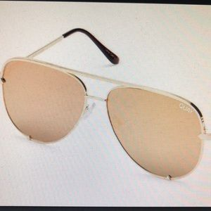 quay desi perskins gold sunglasses